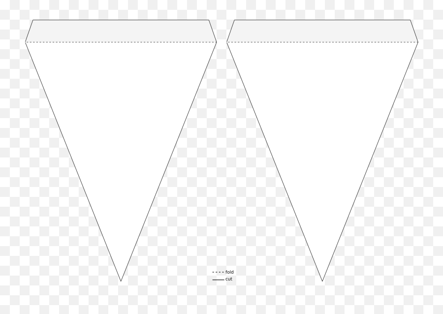 Pennant Banner Template - Transparent Banner Clipart Triangle Png,Flag Banner Png