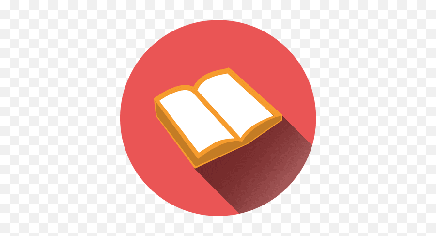 Open Book Round Icon - Book Icon Vector Png