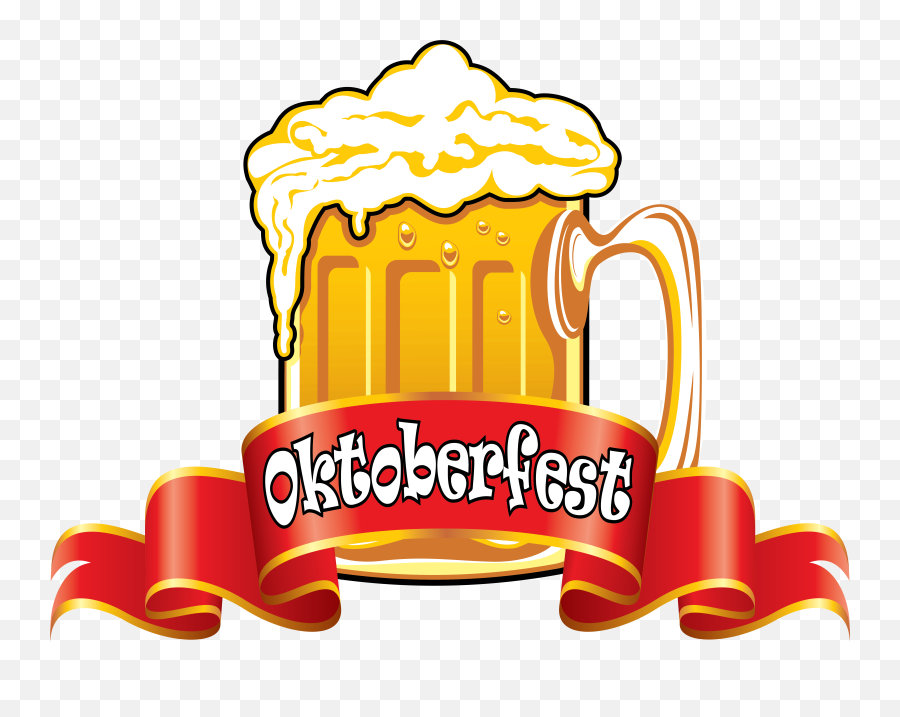 Oktoberfest Red Banner With Beer Clipart Image - Clipartix Clipart German Oktoberfest Png,Red Banner Png