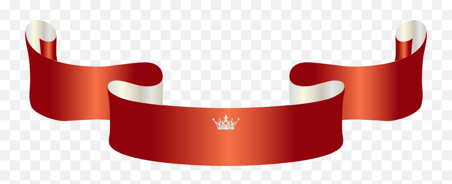 Download Free Png Red Banner With Crown Clipart Image - Banner Vector Ribbon Hd,Red Banner Png