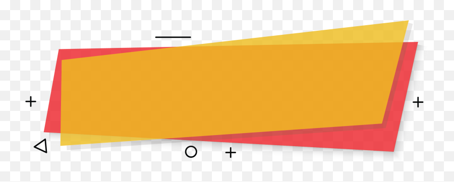 Banner Shape Png - Yellow Banner Red Background Banner With Background For Text Png,Red Banner Png