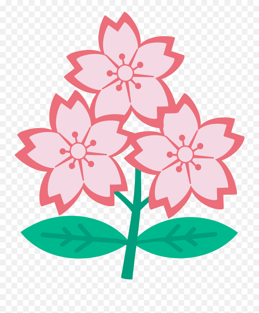 Filetriple Cherry Blossomsvg - Wikimedia Commons  Cherry Blossom Japan Rugby png