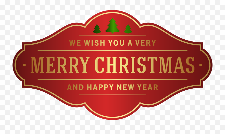 Free Merry Christmas Banner Png Download Clip Art - Label