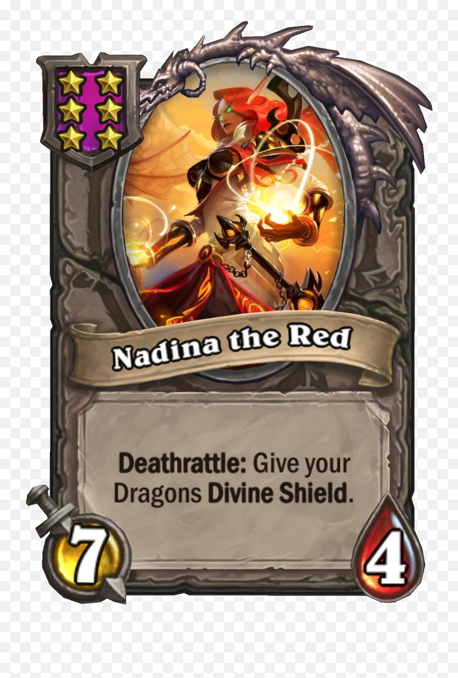 Hearthstoneu0027s Battlegrounds Adds Dragons In Massive 164 - Nadina The Red Hearthstone png
