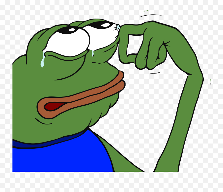 Crying Pepe Transparent Png - Pepe Wiping Away Tear,Pepe Frog Png