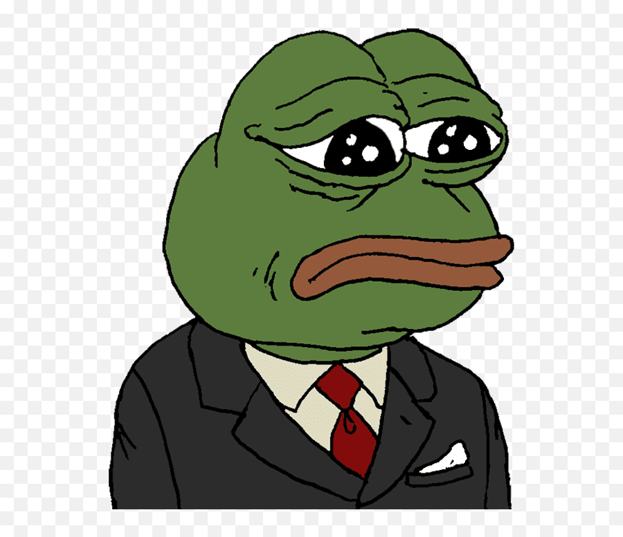 Sad Pepe The Frog Meme Png Picture - Pepe The Frog In A Suit