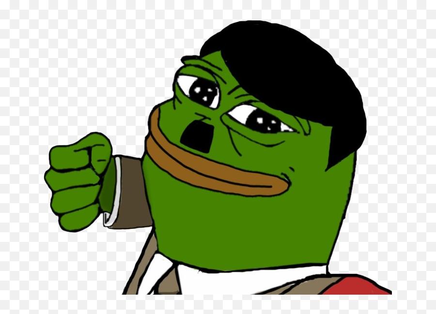 Frog Meme Png Transparent Image - Hitler Pepe The Frog