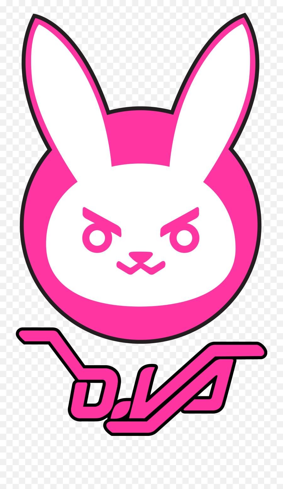 D Va Clip Art - Overwatch Dva Logo Png,Dva Png