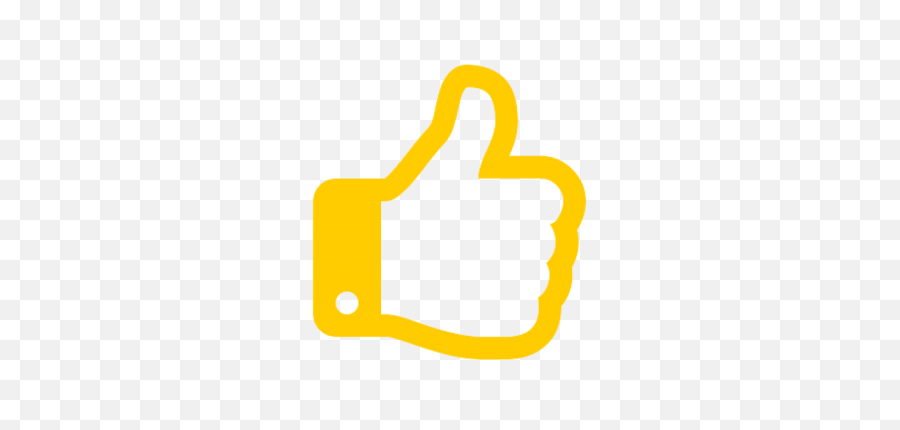 Yellow Thumbs Up Logo Similar To That - Transparent Background Thumbs Up Png