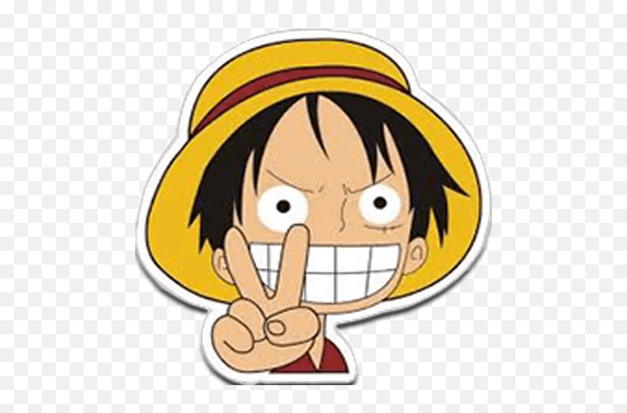 One Pieceu201d Stickers Set For Telegram Monkey D Luffy Sticker Png One Piece Png Free Transparent Png Images Pngaaa Com