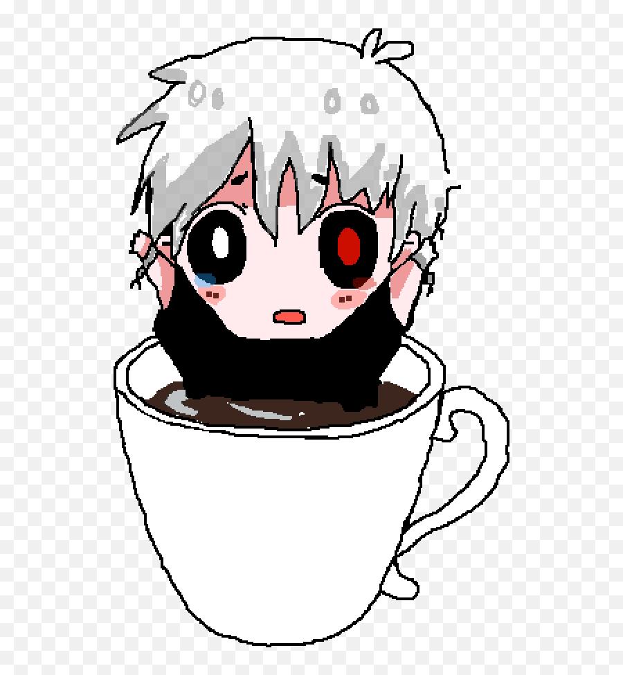 Pixilart - Chibi Coffee Cup Png,Kaneki Transparent