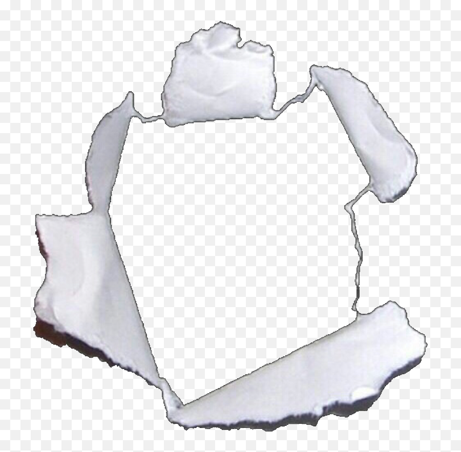 Hole Tear Paper Frame Niche White - Hole Ripped Paper Png,Torn Paper Png