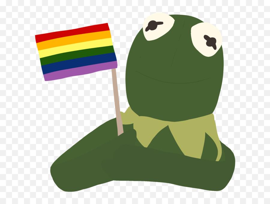 Gay Flag Tumblr Pepe Frog Feels Png - Kermit Png