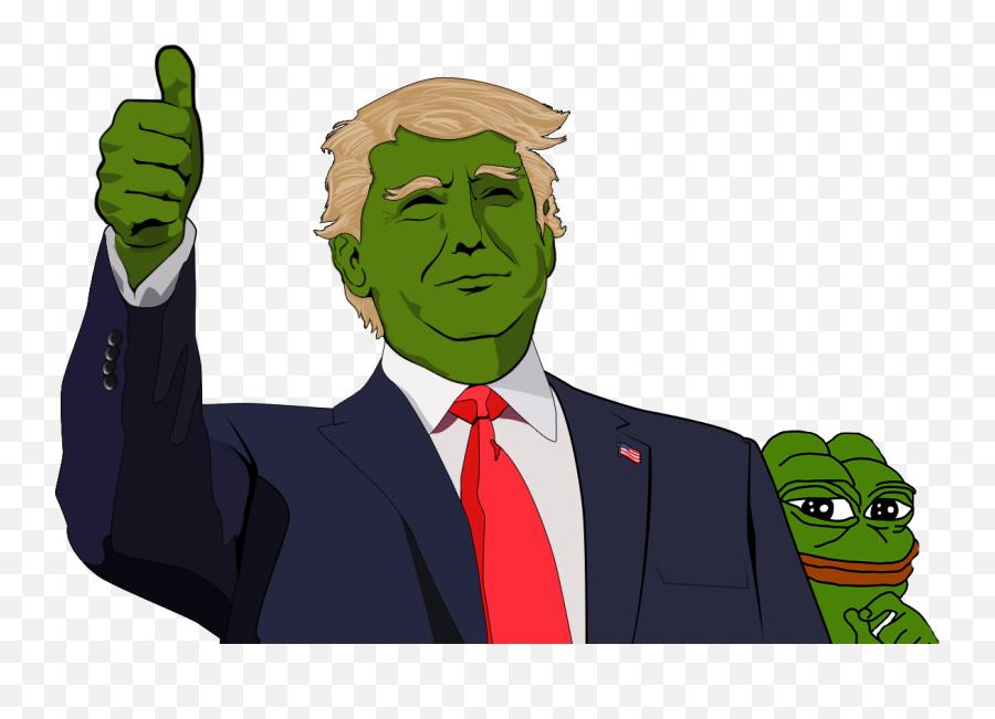 Download Trump Pepe Frog - Trump Pepe Thumbs Up png