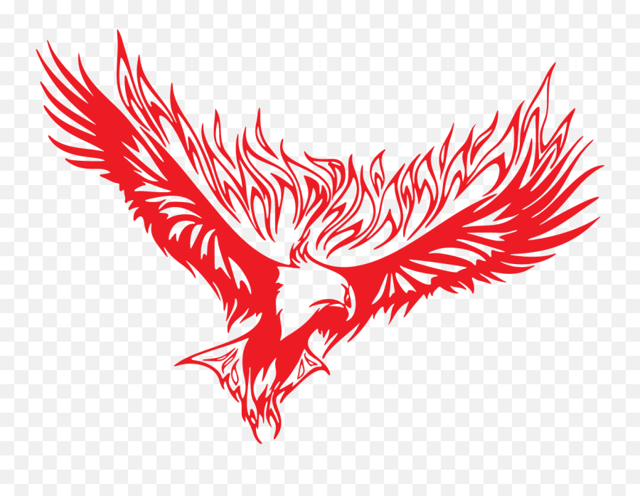 Painted Red Fire Eagle Free Image - Automotive Decal Png,Red Fire Png
