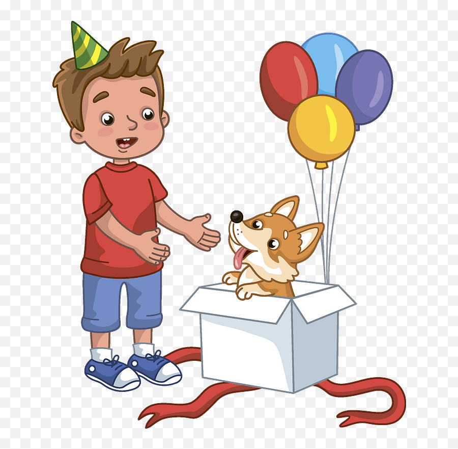Birthday Boy And His New Dog Clipart Free Download His Clipart Png Dog Cartoon Png Free Transparent Png Images Pngaaa Com