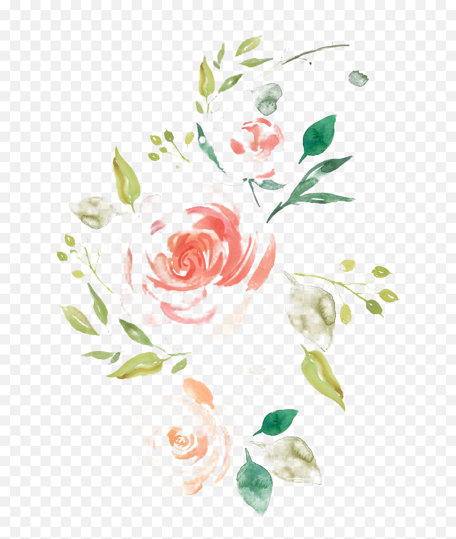 Watercolor Flower Png Picture All - Watercolor Flowers Png Transparent,Watercolor Flowers Png