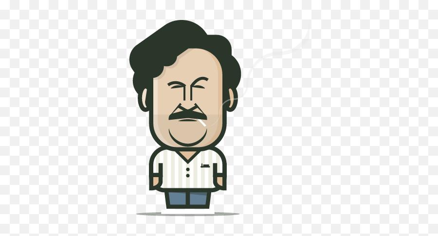 Loogmoji Loogart Caricature Of Pablo Escobar Png Free Transparent Png Images Pngaaa Com
