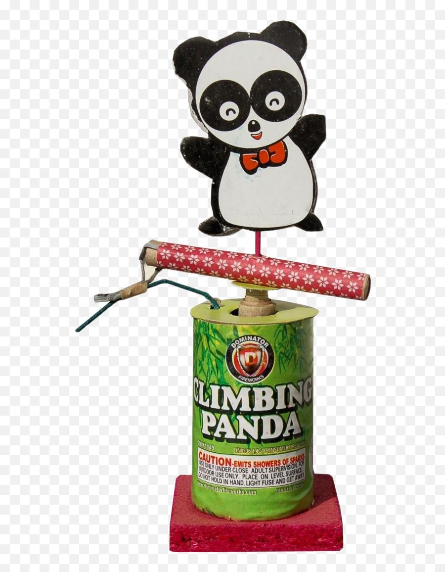Climbing Panda - Cartoon png