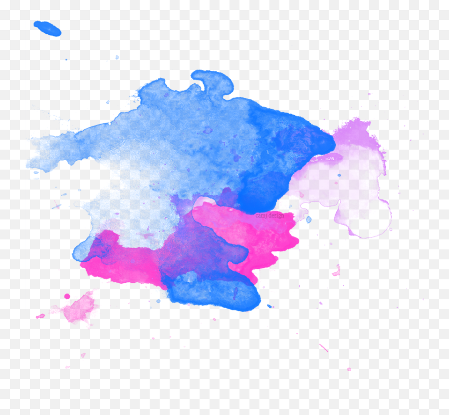 Color Effects Png Transparent Free - Watercolor Splatter,Water Effect Png