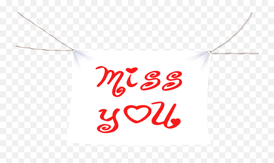 Miss You Banner White - Free Image On Pixabay Vertical Png,White Banner Png