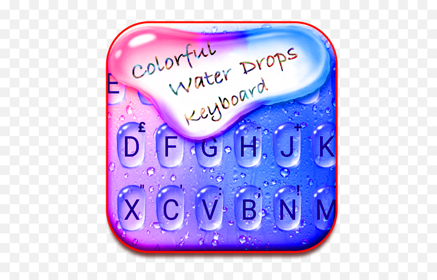 Colorful Water Drops Keyboard - Color Drops Themes Amazon Number Png,Water Drops Transparent