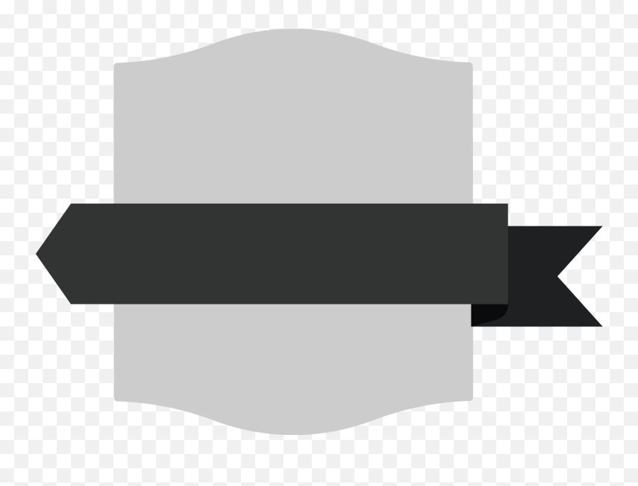 Download Hd Gray Rectangle Shield Badge - Black Ribbon Logo Png,Black Ribbon Png