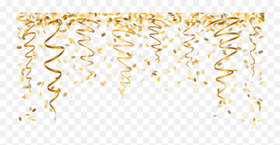 Nye Newyearseve Ftestickers - Confetti Gold png