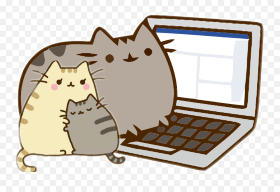 Hd Pusheen Writing Gif Clipart Transparent Pusheen Computer Gif Png Pusheen Cat Png Free Transparent Png Images Pngaaa Com