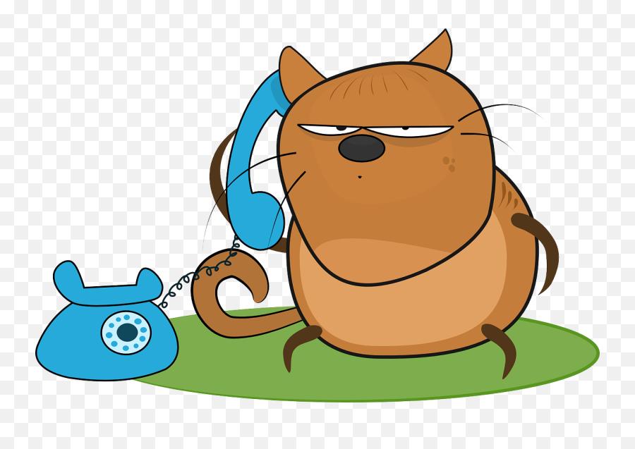 Phone talking cartoon on A man