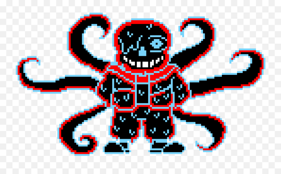 Kaneki The Ghoul - Nightmare Sans Pixel Art Clipart Full Anti Virus Sans Pixel Png,Kaneki Transparent