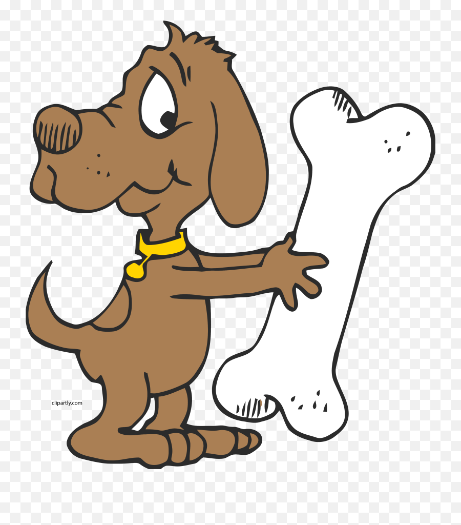 Seriously Large Bone Clipart Png - Dog With Bone Clip Art