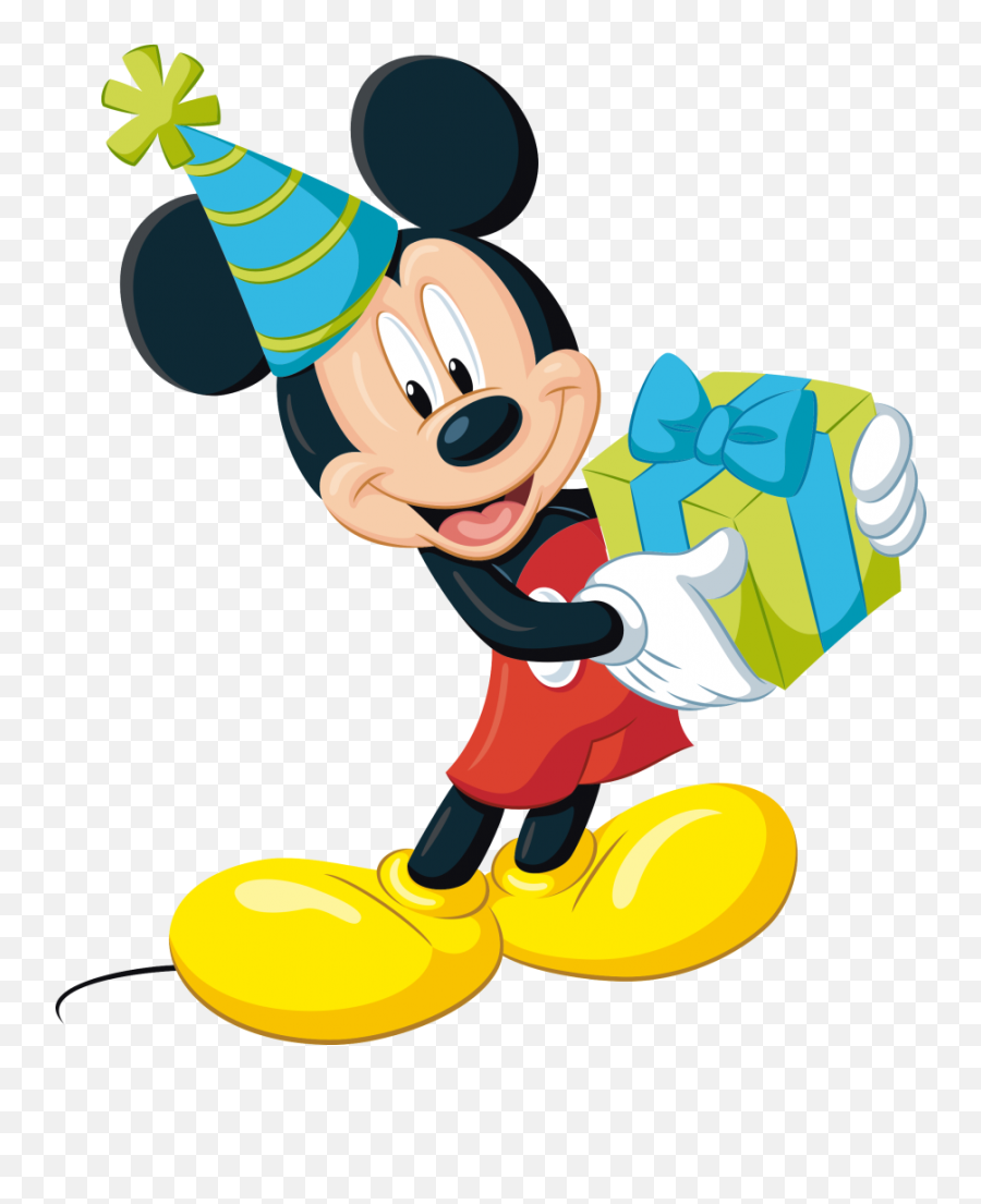 Mickey Mouse Png Picture - Mickey Mouse With Gift