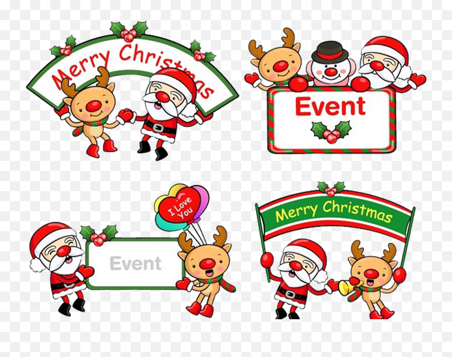 The Christmas Box Santa Claus Nativity Of Jesus New Year - Merry Christmas Banner Cartoon Transparent png