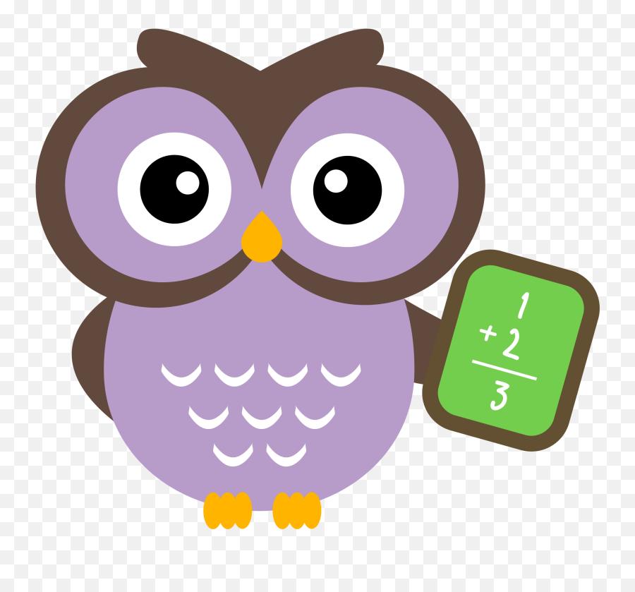 Funny Math Clipart - Owl Math Clipart Png,Math Clipart Png