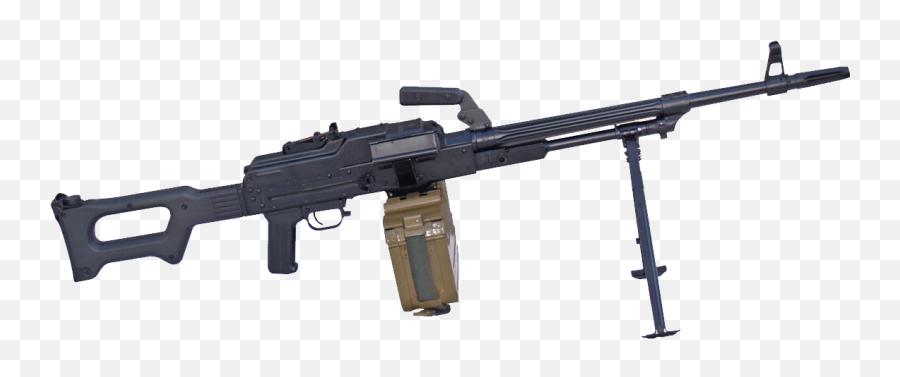Clipart Gun Transparent Background - Russian Pkm Machine Gun png