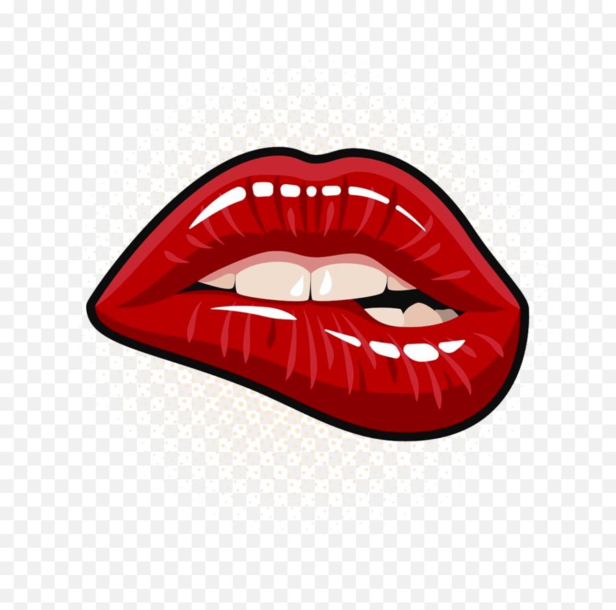 Lips Clipart Png Pop Art Biting Lip Transparent Cartoon Lip Biting Painting Free Transparent Png Images Pngaaa Com
