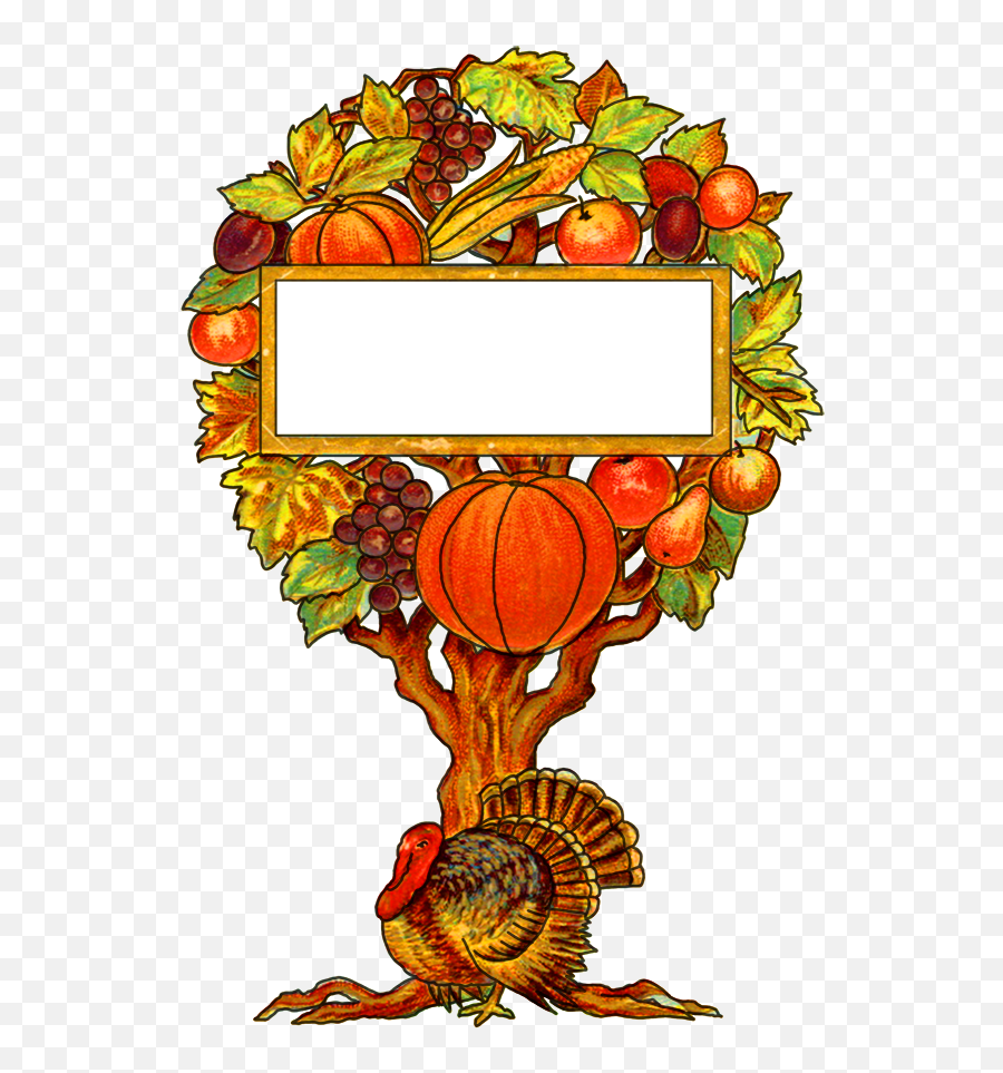 Clip Freeuse Download Happy Girl - Vintage Thanksgiving Clipart Png,Thanksgiving Banner Png