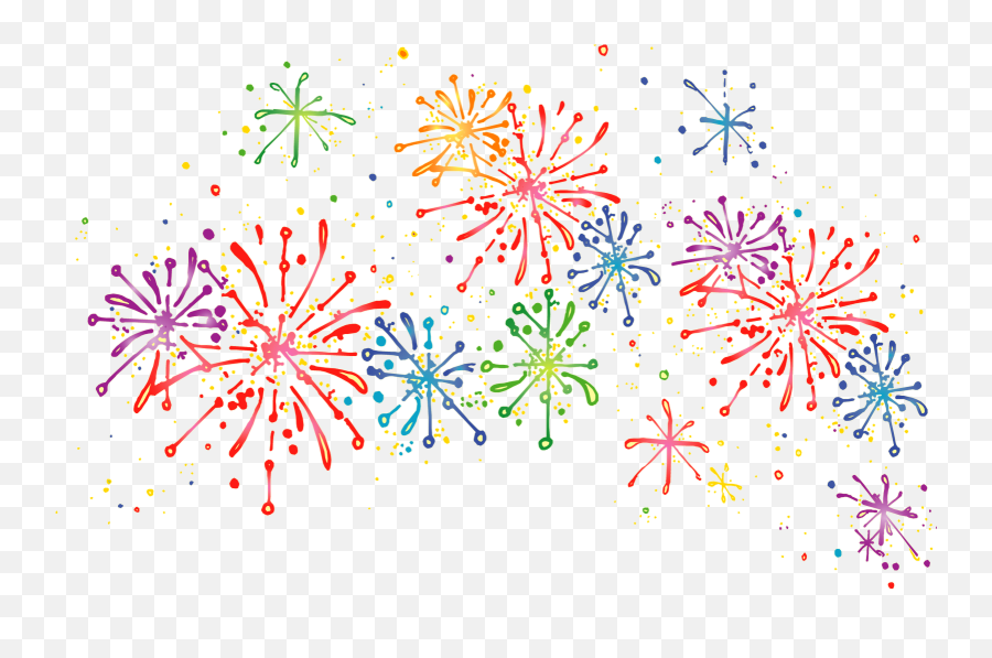 Fireworks Png Transparent Clipart Image - Clip Art Transparent Background Fireworks,Fireworks Transparent Background