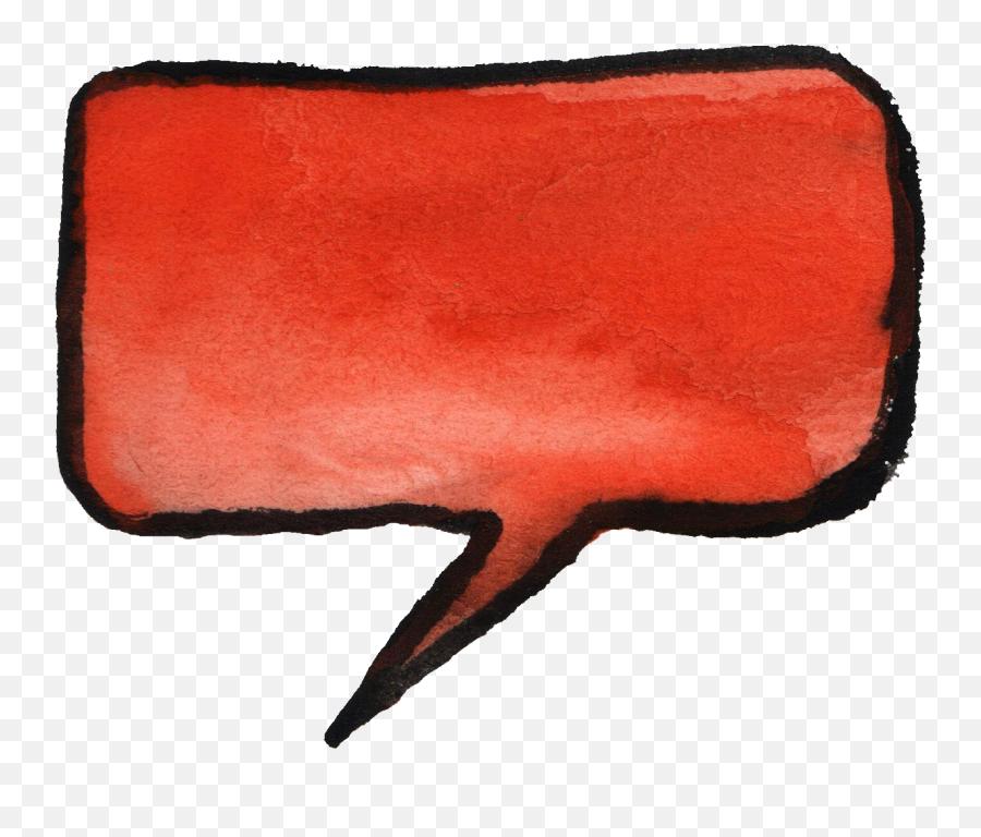 8 Watercolor Speech Bubbles - Red Speech Bubble Vector Transparent png
