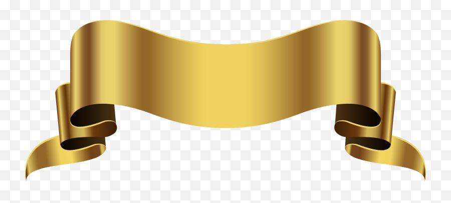Gold Banner Transparent Png Clip Art - Gold Ribbon Transparent Background