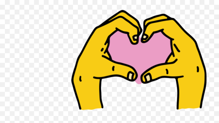 Instagram Hand Heart Sticker - Instagram Stickers Png,Instagram Heart Transparent