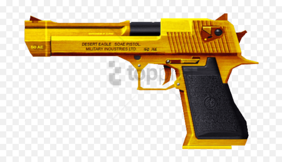 Hd Free Png Gold Gun Image - Desert Eagle Free Fire