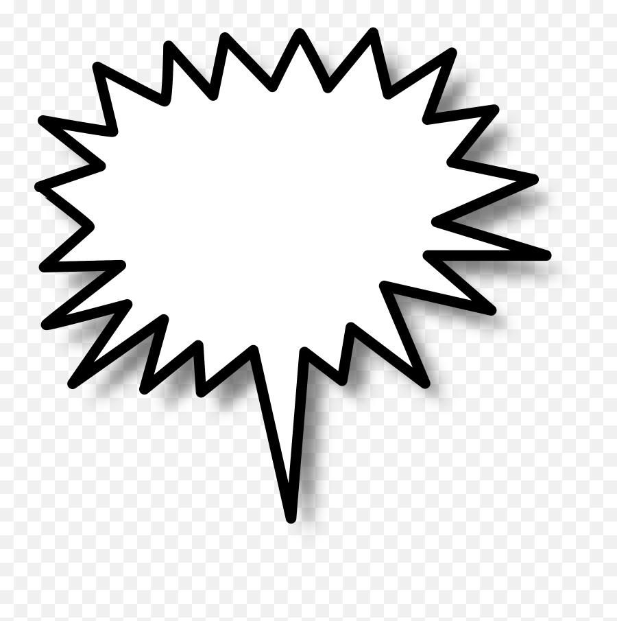 Spiky Speech Bubble Png Transparent - Star Burst Clip Art