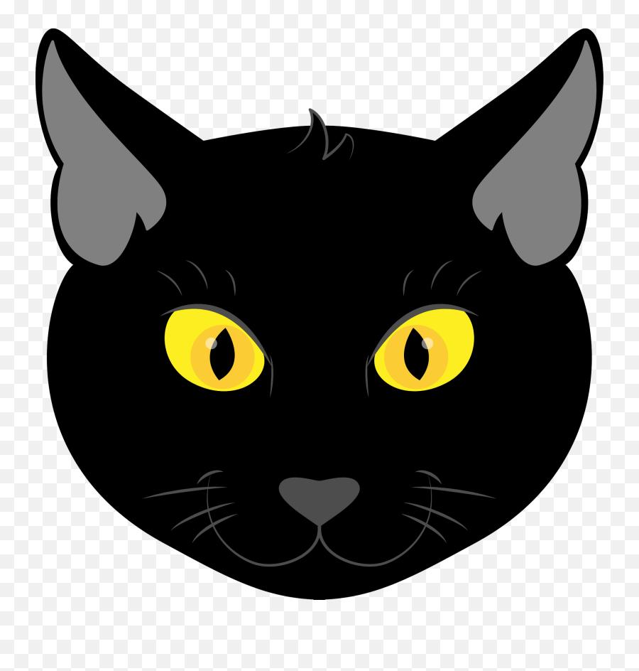 Black Cat Face Clipart Black Cat Face Clipart Png Black Cat Clipart Png Free Transparent Png Images Pngaaa Com