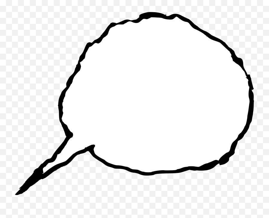 9 Hand Drawn Speech Bubble - Circle png