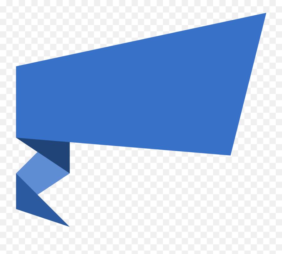 Blue Banner Transparent - Vector Banner Shape Png