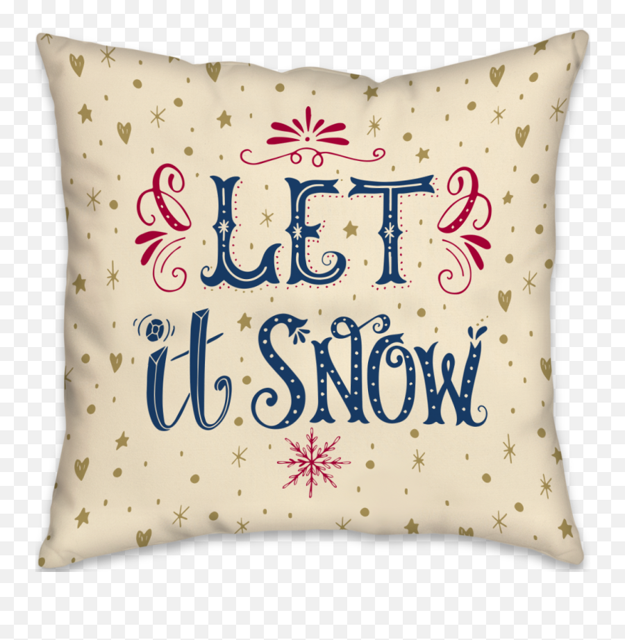 Download Let It Snow - Handlettering Let It Snow Full Size Cushion Png,Falling Snow Transparent Background