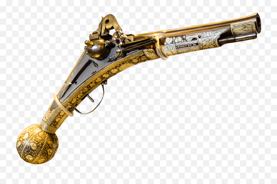 Pistol Ornate Wood And Tusk Transparent Png - StickPNG  Guns In The Middle Ages