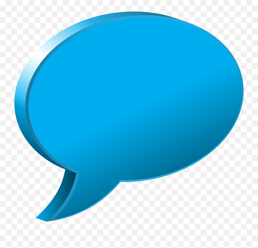 Blue Speech Balloon - Speech Bubble Blue Transparent PNG
